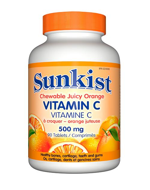 Sunkist Chewable Juicy Orange Vit. C 90s - healthstore.sg